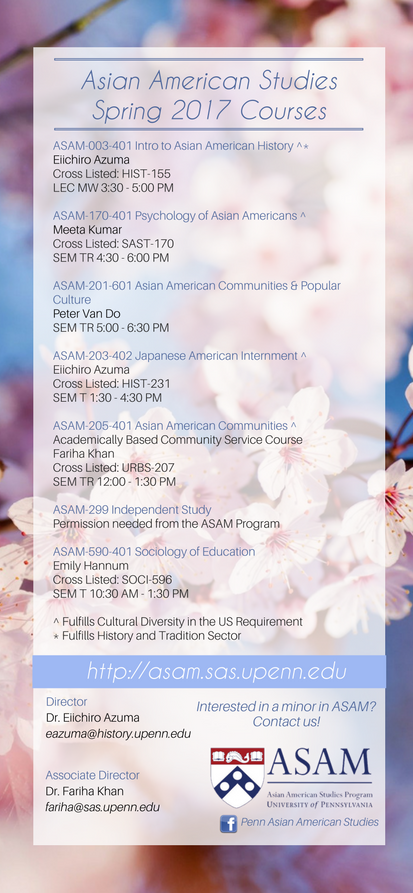 ASAM Spring 2017 Courses