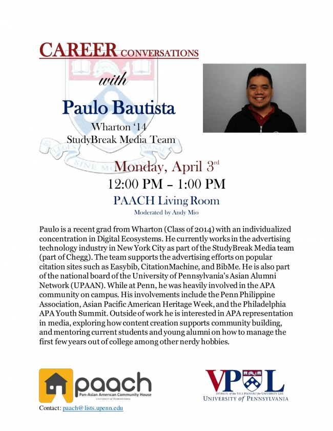 Career Conversations with Paulo Bautista