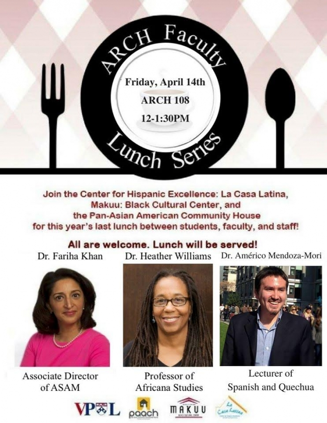 ARCH Faculty Lunch series